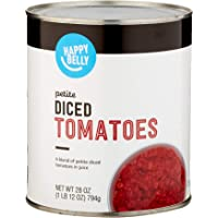 Amazon Brand- Happy Belly Petit Diced Tomatoes, 28 Ounce