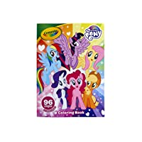 Crayola My Little Pony Coloring Book with Stickers, Gift for Girls and Boys, 96 Pages, Ages 3, 4, 5, 6
