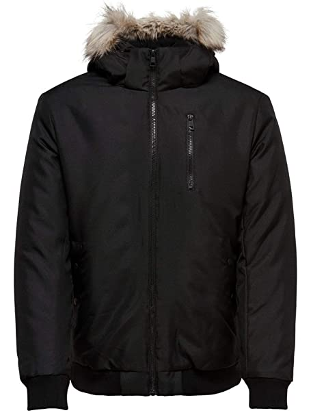 Only & Sons Chaqueta Hombre STANNY - XS, Negro