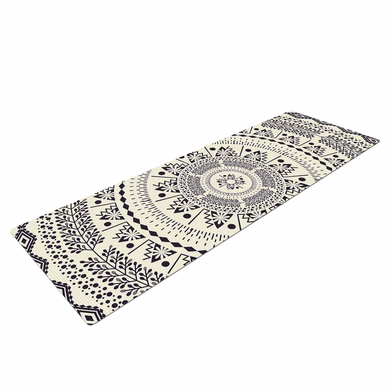 Kess InHouse Famenxt Swadesi Soft Boho Mandala Beige Illustration Yoga Mat 72 X 24 72 X 24 KESS Global Inc FM1056AYM01