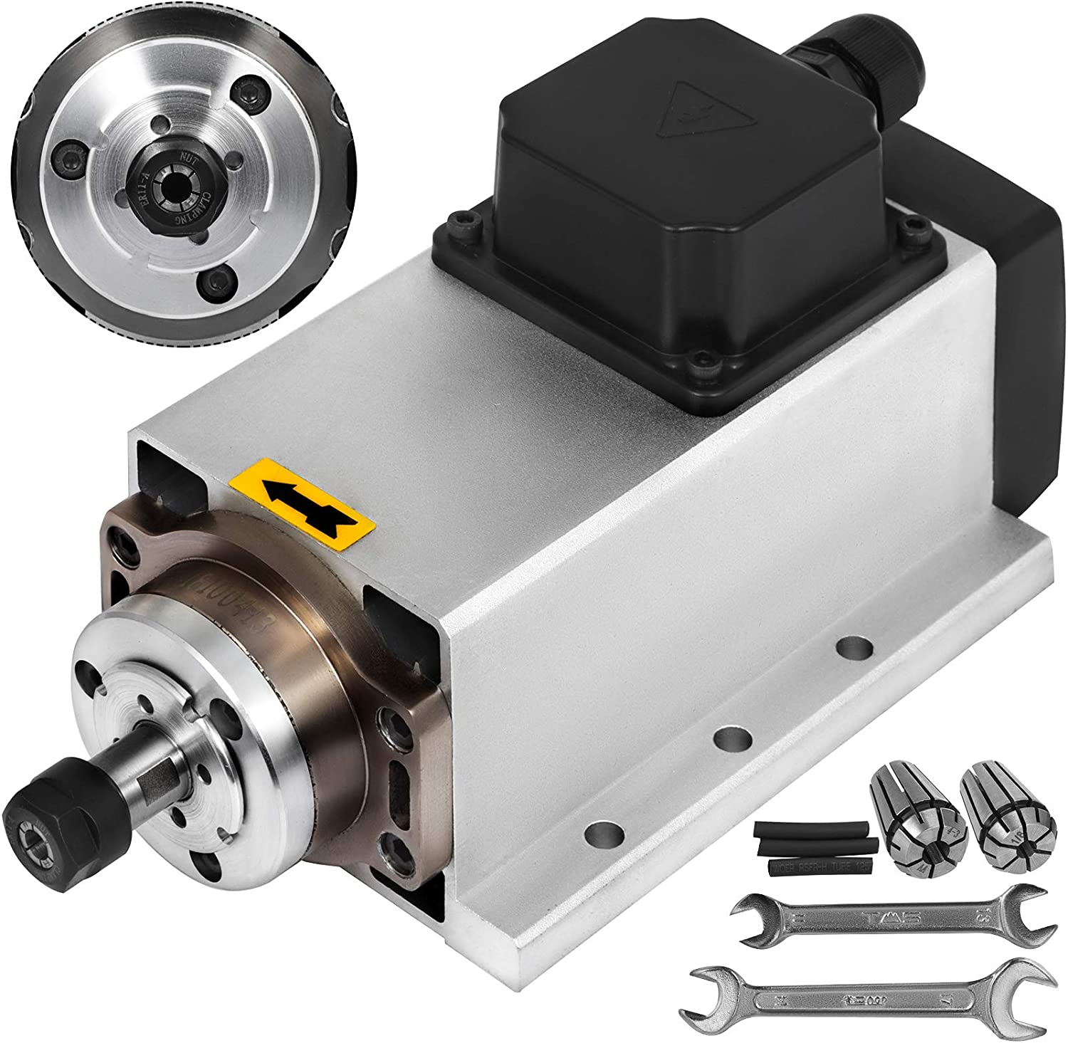 TOP QUALITY 1.5KW ER11  AIR-COOLE SPINDLE MOTOR AND MATCHING INVERTER FOR CNC