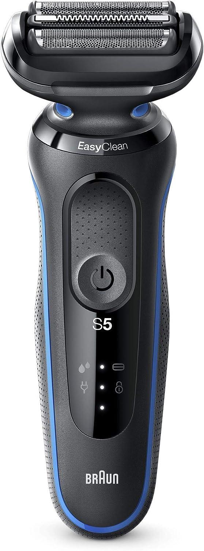 Braun Series 5 50-B1000s Afeitadora Eléctrica, máquina de afeitar barba hombre de Lámina, Uso en Seco y Mojado, Recargable, Inalámbrica, Azul: Amazon.es: Salud y cuidado personal