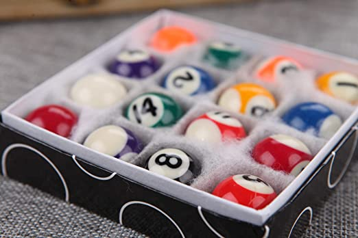 Oitin Mini Bolas de Billar de 1 Pulgada para decoración de Bar de ...