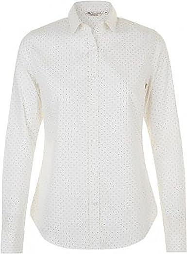 SOLS Camisa de Popelín con Manga Larga y Lunares Modelo Becker Para Mujer: Amazon.es: Ropa y accesorios