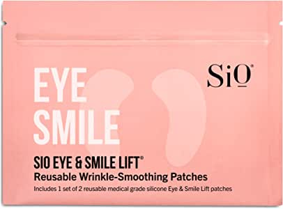 SiO Beauty Eye & Smile Lift | Eye & Smile Anti-Wrinkle Patches 2 Week Supply | Overnight Smoothing Silicone Patches For Eye & Smile Wrinkles And Fine Lines