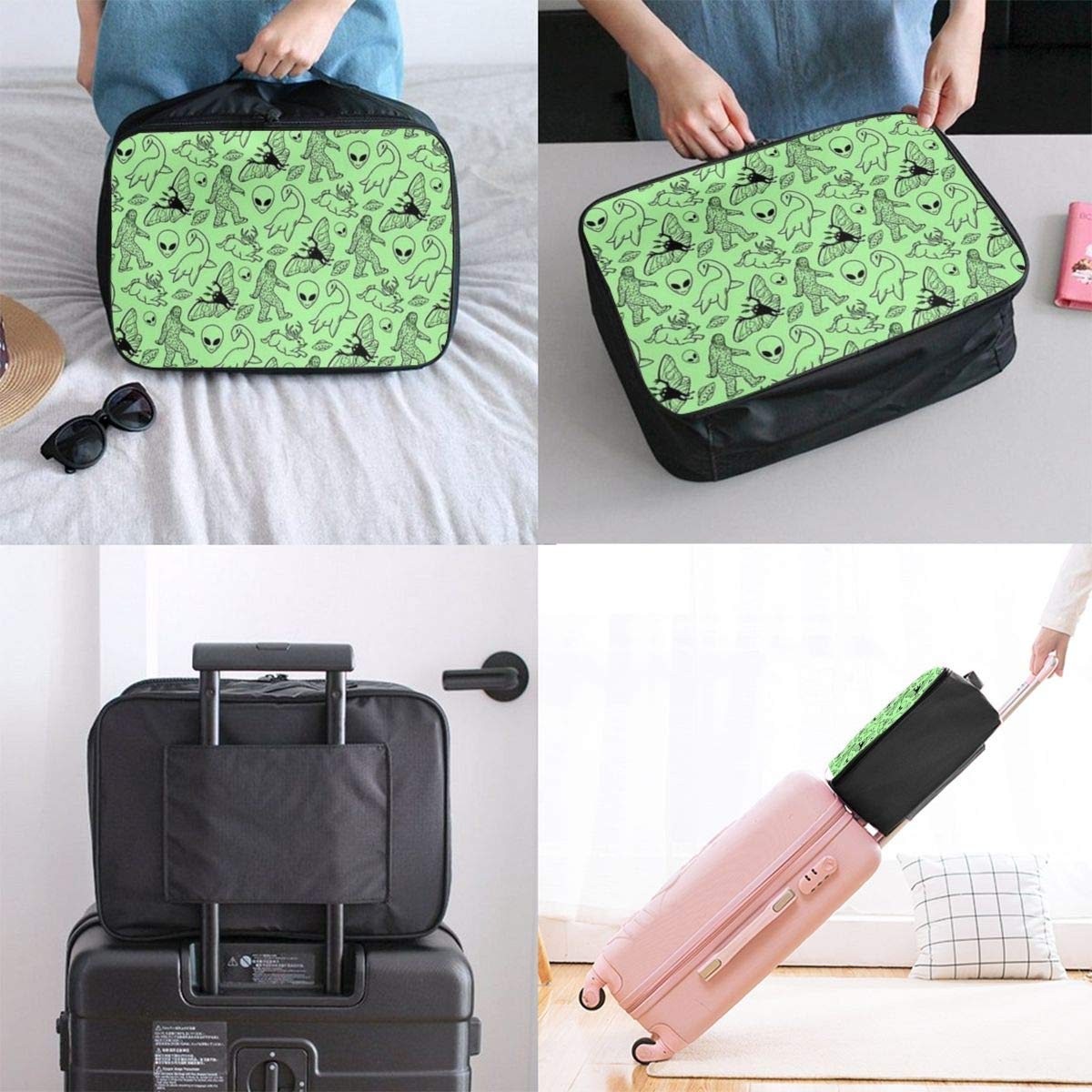 Luggage Lever Bags For Travel Lightweight Large Capacity Portable Duffel Bag For Men /& Women Travel Luggage Duffel Bag Funny Bikini Corgi Dog Mermaid