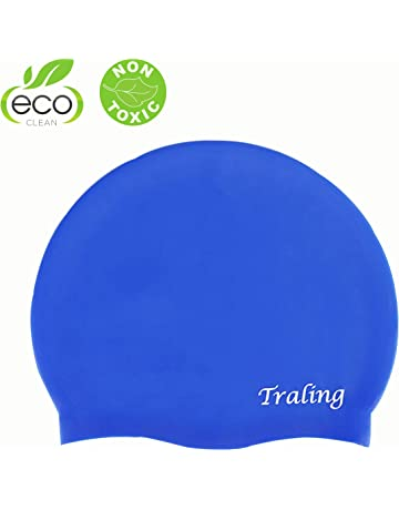 0d688c6c Traling Swimming Cap Kids, Silicone Swim Hat for Children Boys Girls