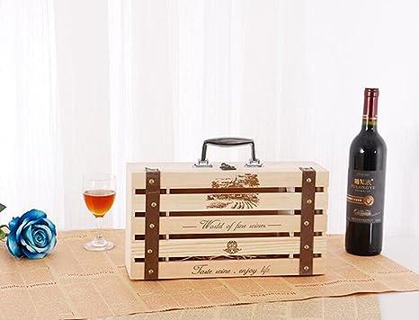 Amazoncom Alxdr Pine Wood Wine Wooden Box Double Bottle Wine Case
