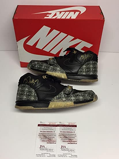 c93cf3eba5877 Image Unavailable. Image not available for. Color  Bo Jackson Dual Signed Nike  Air Trainer ...