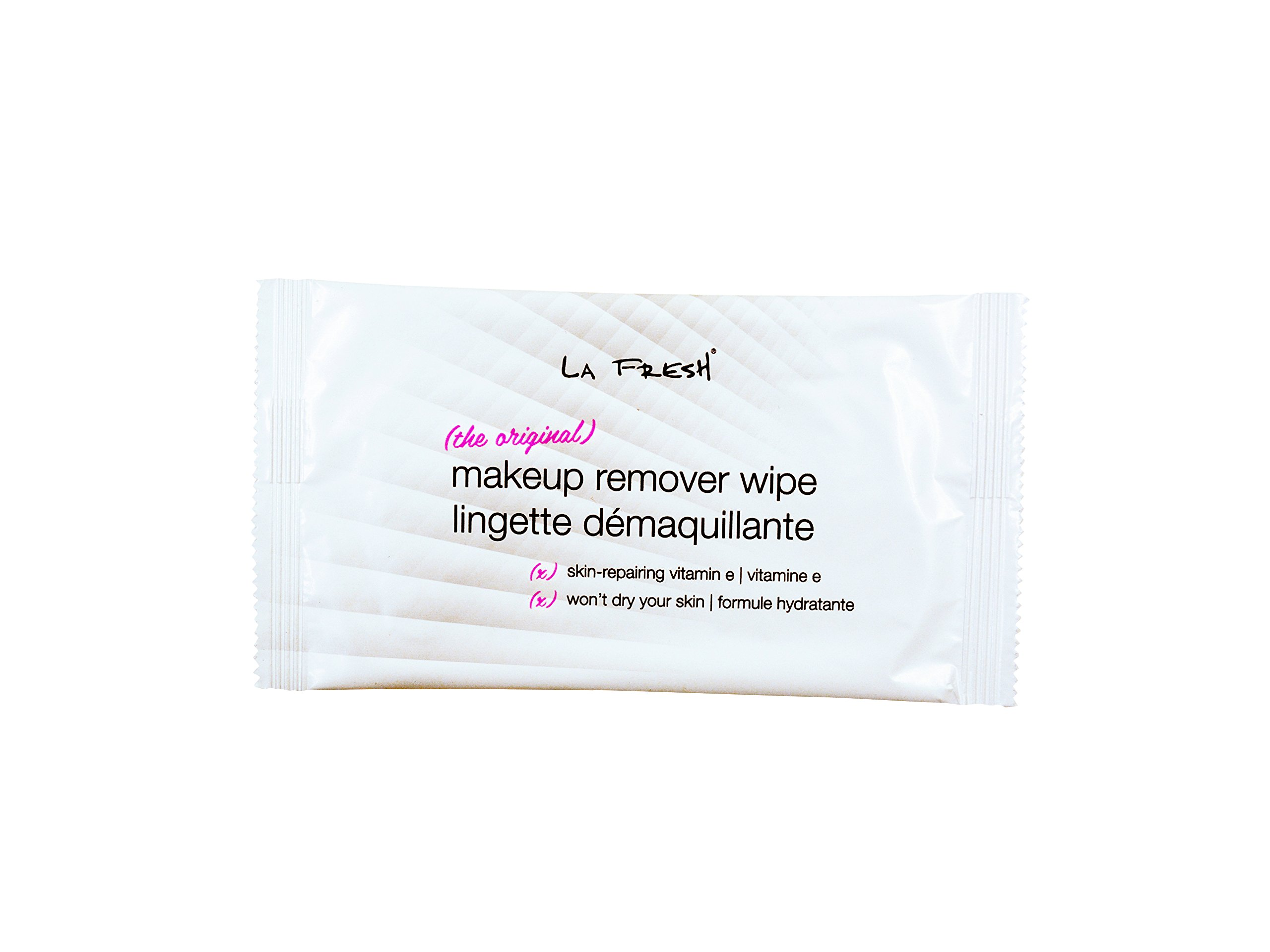 La Fresh Travel Lite Makeup Remover Cleansing Face Wipes - Facial Towelettes with Vitamin E for Waterproof Makeup - Individually Sealed Wrappers (Large 8 in x 7 in Cloth Size) - 1200 Count by La Fresh