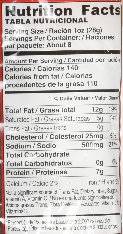 animal pak tabla nutricional