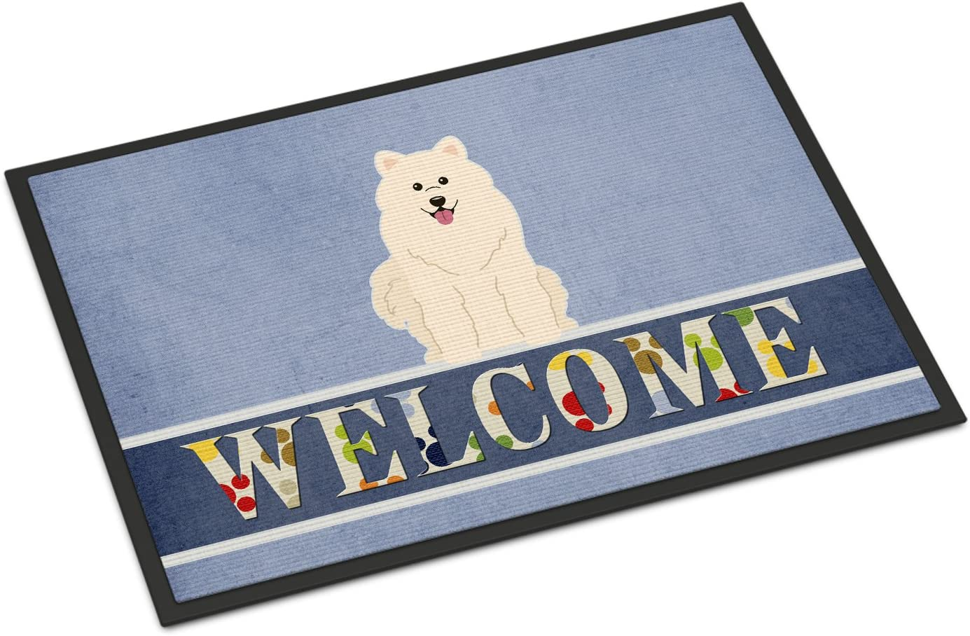 Caroline s Treasures BB5611MAT Samoyed Welcome Indoor or Outdoor Mat 18×27, 18H X 27W, Multicolor