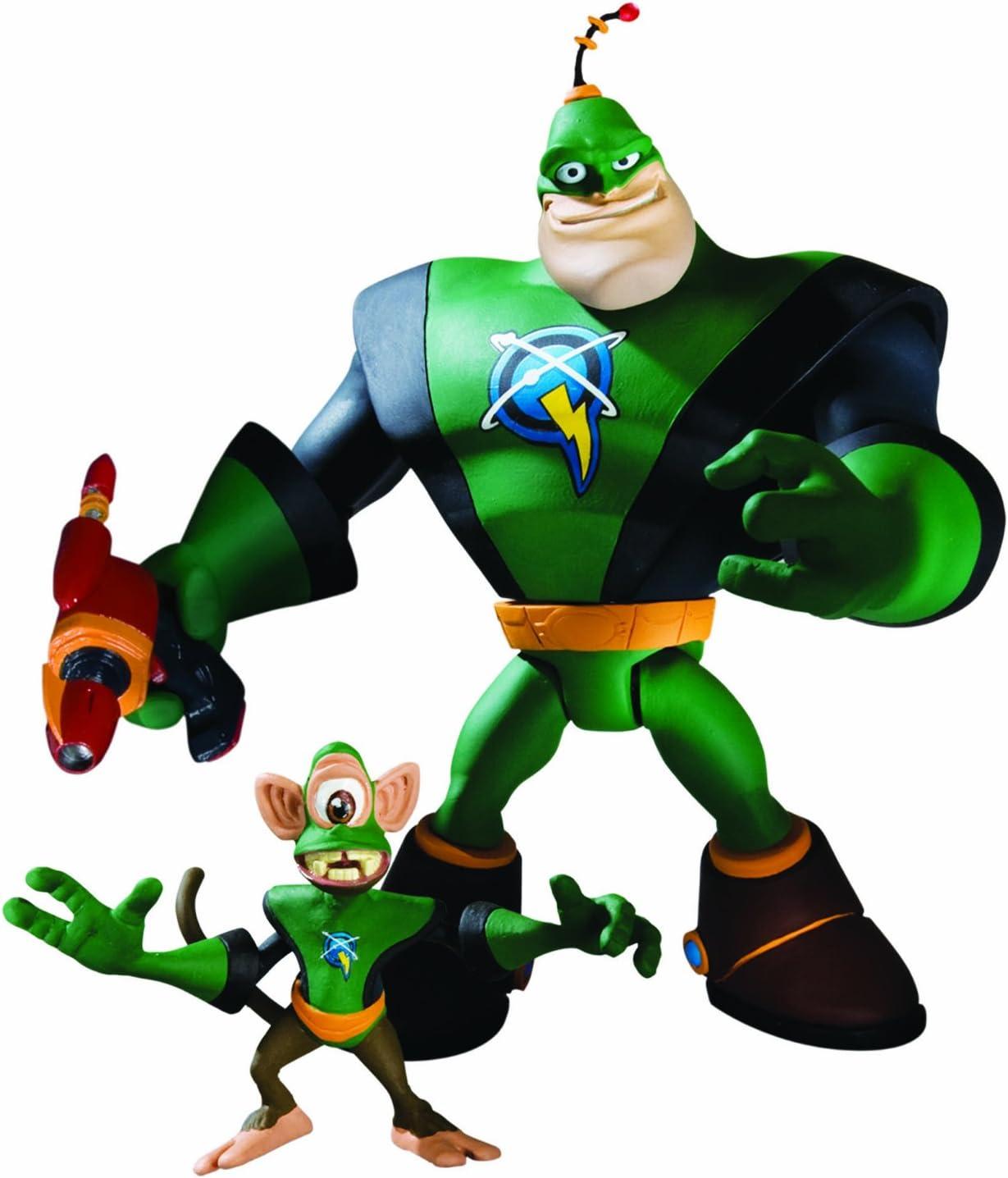 Ratchet & Clank Serie 1: Capitán qwark con Scrunch Figura de ...