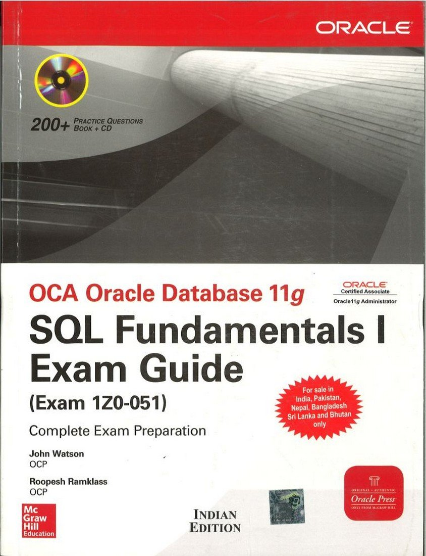 Buy Oca Oracle Database 11g Sql Fundamentals I Exam Guide Exam 1z0