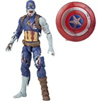 Marvel Legends Series 6-inch Scale Action Figure Toy Zombie Captain America, Premium Design, 1 Figure, and 1 Accessory