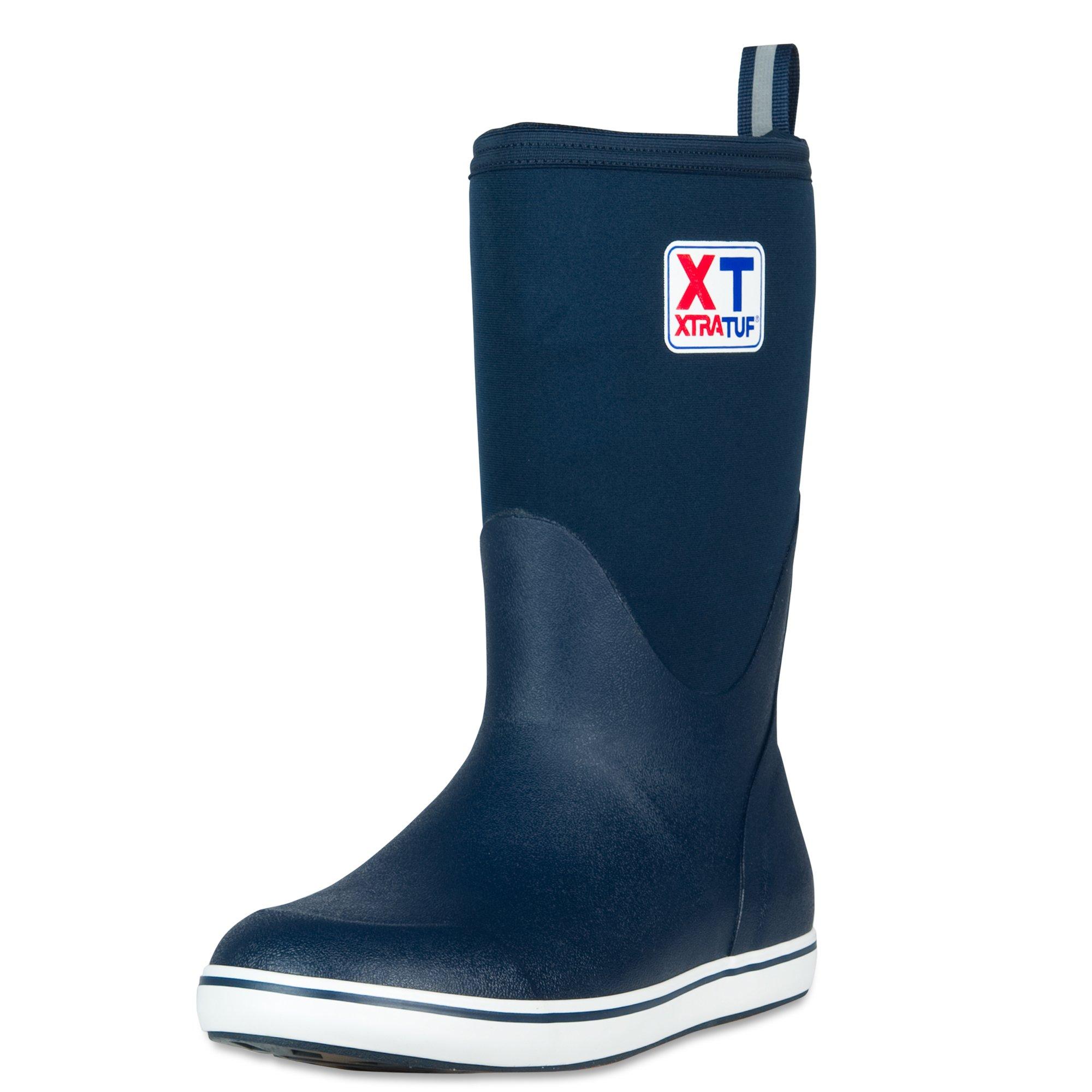 XTRATUF Performance Series 12'' Men's Neoprene & Rubber Deck Boots, Navy (22602)