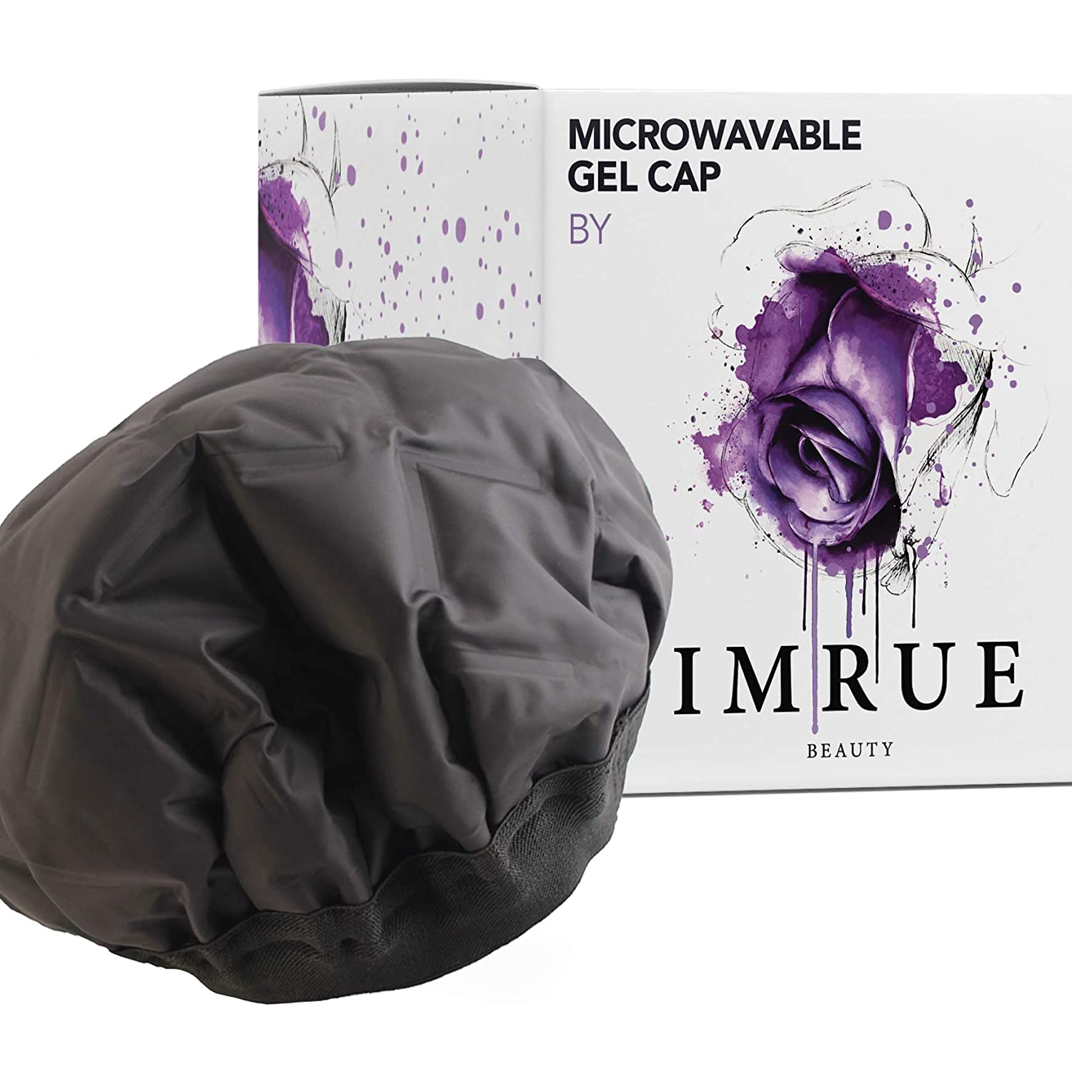 Cordless Heated Gel Cap/Hair Therapy Wrap/Used with Oil or Conditioner for Deep Penetrating Hair and Scalp Treatments