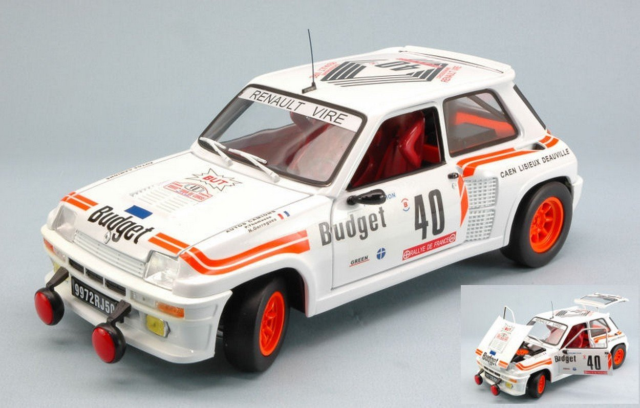 Universal Hobbies UH4543 Renault 5 Turbo N.40 TDC 1984 Thomasse-GORREGUES 1:18: Amazon.es: Juguetes y juegos