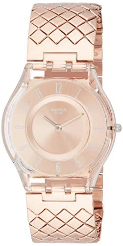 Swatch Pink Cushion Ladies Watch SFE110GA