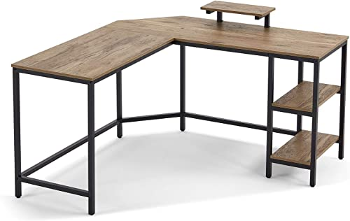 LinsyHome L-Shaped Computer Desk