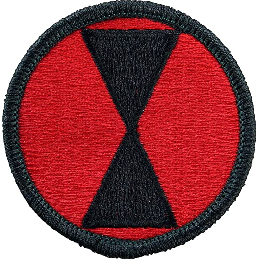 Image Unavailable. Image not available for. Color  7th Infantry Division  Patch ... 797862c1317