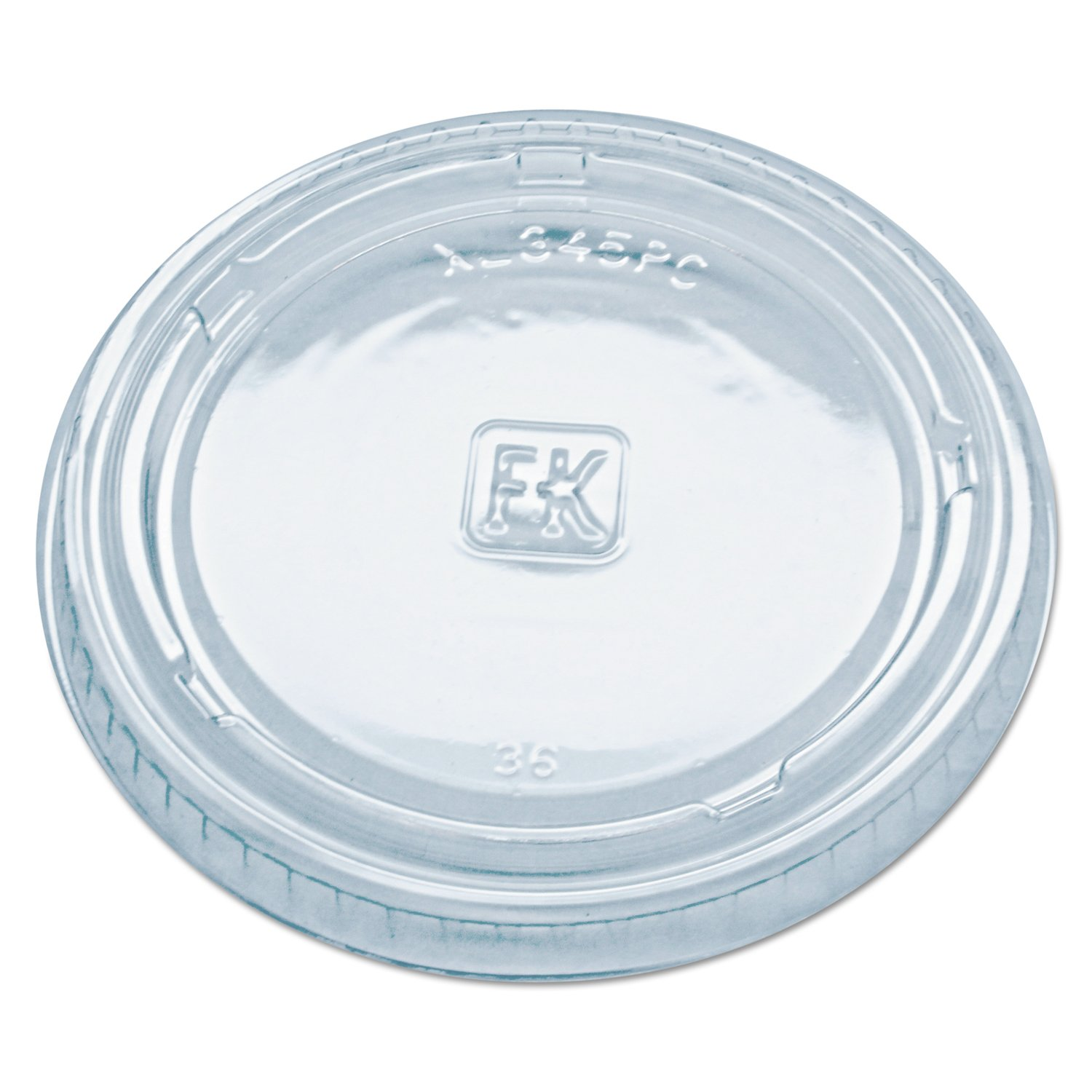 Fabri-Kal XL345PC Clear Polyethylene Terephthalate Lid for 3.25 4 5.5-Ounce Portion Cup (Case of 2500) by Fabri-Kal