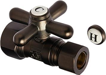 Kingston Brass CC44455 Vintage 5//8 x 1//2 Compression Straight Stop Valve Oil Rubbed Bronze 2-3//4 2-3//4