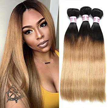 3/4 Bundles With Closure 4 Bundles Malaysian Curly Hair With Lace Closure #27 Honey Blonde Bundles With Closure 100% Human Hair Extensions Double Weft Durable Service Hair Extensions & Wigs