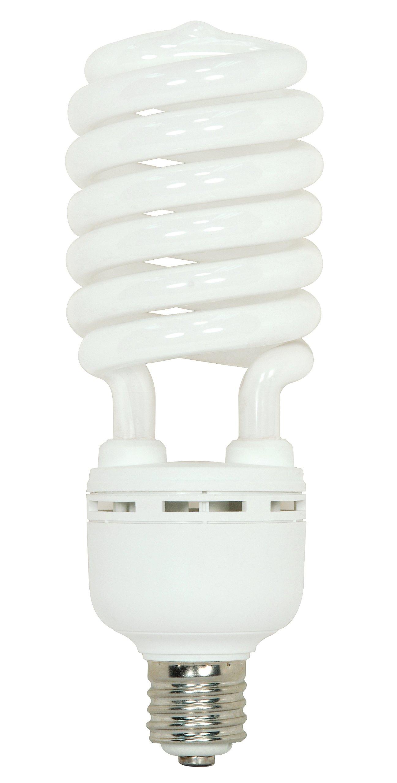 Satco S7395 105 Watt (400 Watt) 7000 Lumens Hi-Pro Spiral CFL Bright White 4100K Mogul Base 120 Volt Light Bulb