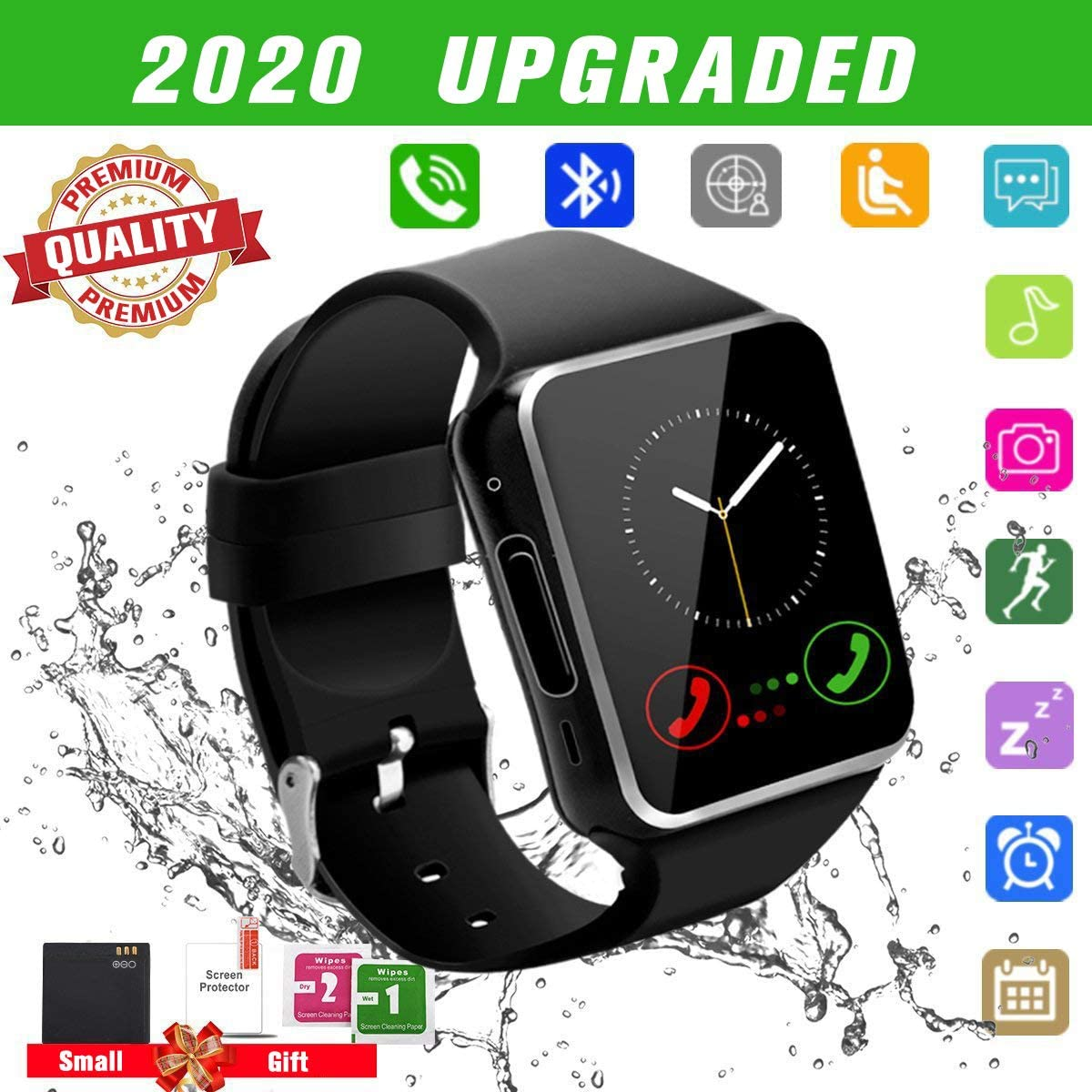 Smart Watch For Android Phones Smartwatch For Men Women Smart Watches With Camera Bluetooth Watch With Sim Card Slot Cell Phone Watch Smartwatch For Android Samsung Phone Ios Xs X8 10 11