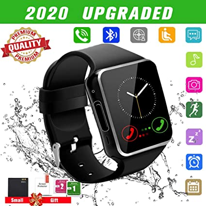 Android Smart Watch for Women Men, 2020 Bluetooth Smartwatch Smart Watches Touchscreen with Camera, Cell Phone Watch with SIM Card Slot Compatible ...
