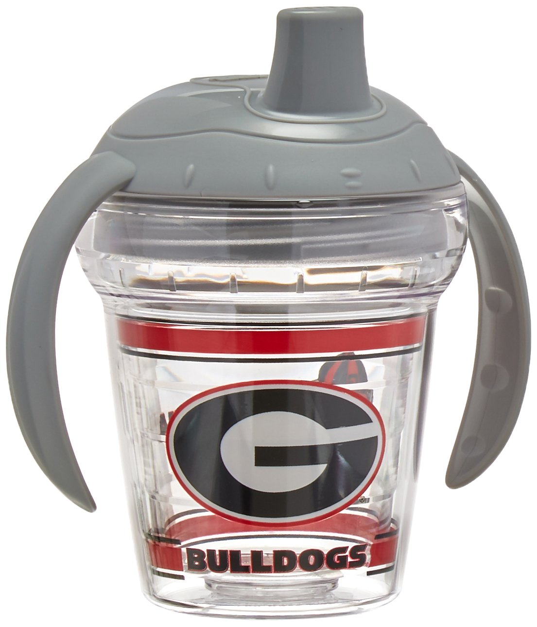 Tervis Georgia University Sippy Cup with Lid, 6 oz, Clear
