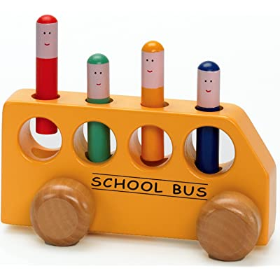 The Original Toy Company Pop-Up School Bus: Toys & Games
