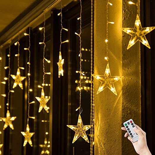 BLOOMWIN. BLOOMWIN CHRISTMAS STAR STRING LIGHT ... - Shoptagr Bloomwin Christmas Star String Light Indoor Led Curtain