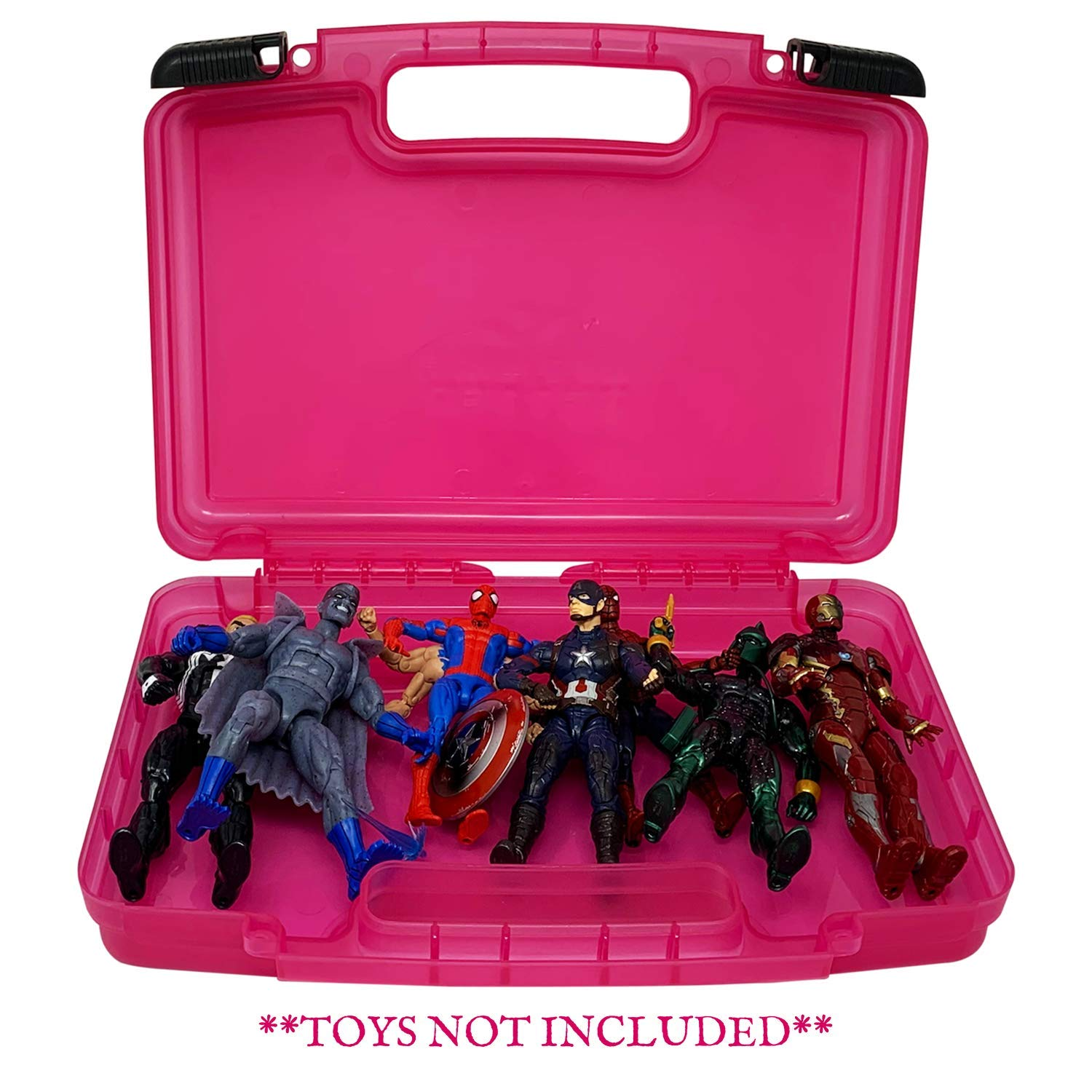 Compatible with 6 Inch Marvel Legends Action Figures Made by LMB Pink Toy Accessories Organization Carrying Case Life Made Better Portable Toy Storage Organizer