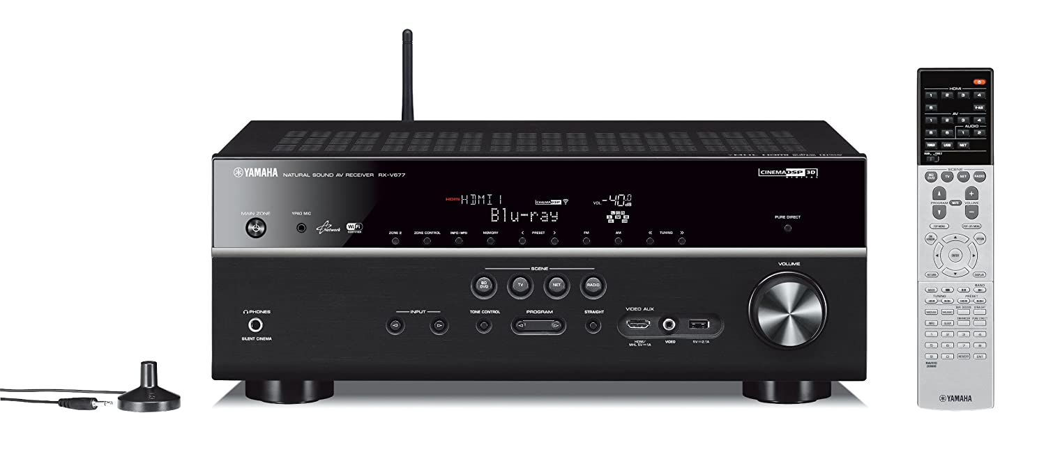 Yamaha RX-V677 7 2-channel Wi-Fi Network AV Receiver with AirPlay
