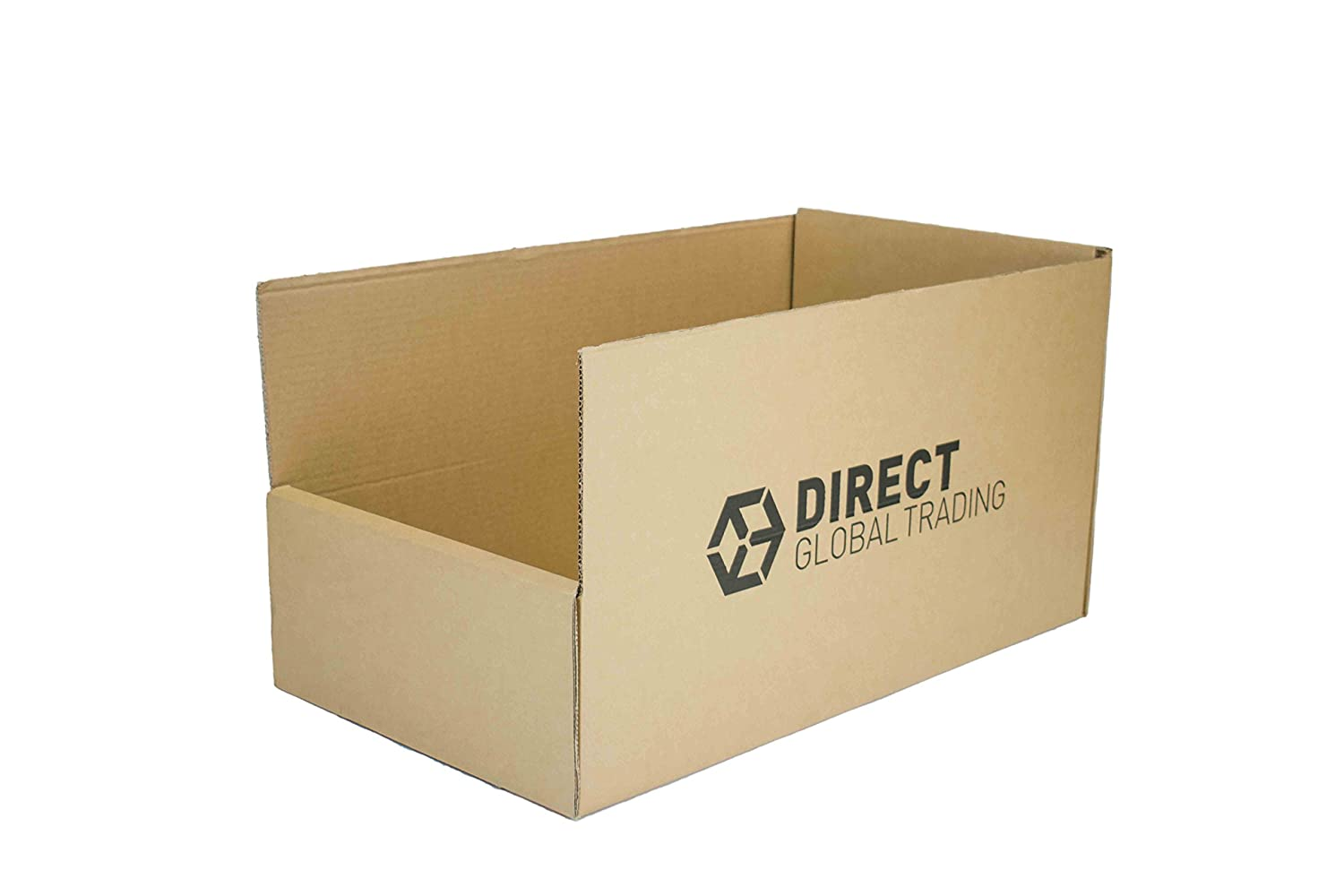 Double Wall Extra Strong Cardboard Warehouse Pick Bins Racking Storage Boxes (Pack of 10) Direct Global Trading