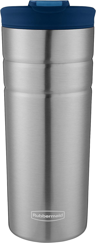 Rubbermaid Leak Proof Flip Lid Thermal Bottle, 16 oz., Nautical