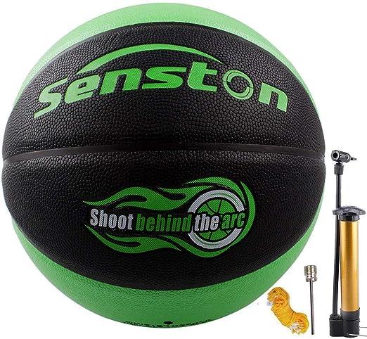 Senston Ballon de Basket-Ball Basketball Taille 5 Enfant Caoutchouc Doux et Bouncy Basketball Ext/érieur et int/érieur