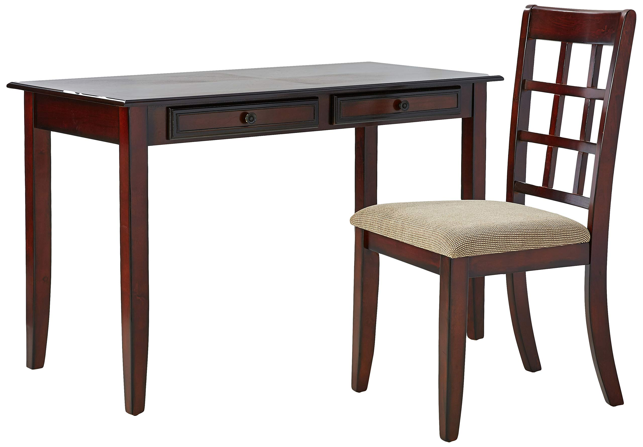 2-piece Writing Desk Set Chestnut by Coaster Home Furnishings