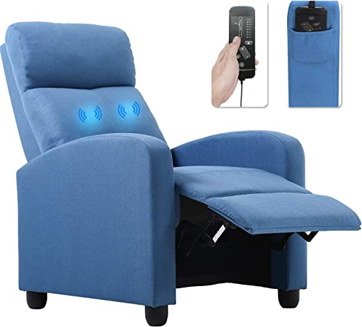 Recliner Chair for Living Room Winback Home Theater Seating Single Sofa Massage Recliner Sofa Reading ChairModern Reclining Chair Easy Lounge with