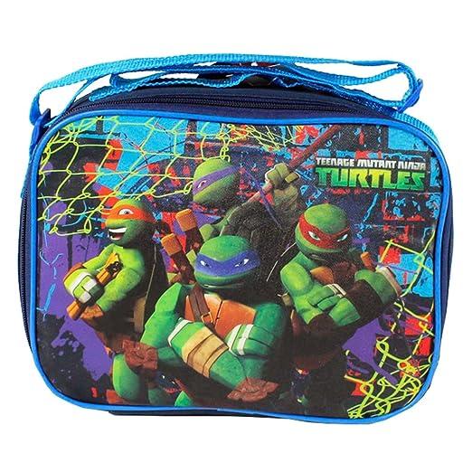 1 x tortuga ninja TMNT rectangular campo viaje escuela bolsa ...