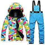 2016 hiver Veste de ski avec pantalons de ski ensemble sports snowboard vêtements imperméable vent et l'eau