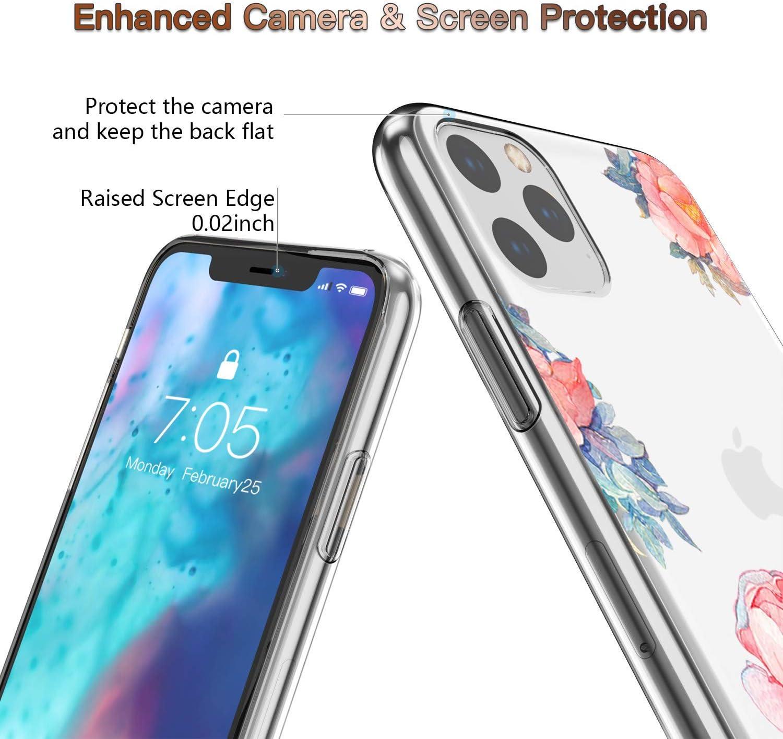 Suhctup Case Compatible con iPhone 5/5S/SE Funda Silicona Transparente Dibujos Diseño TPU Bumper Crystal Ultra Slim Antigolpes Protection Cárcasa Cover para iPhone 5/5S/SE,Flor 4 Flor 7
