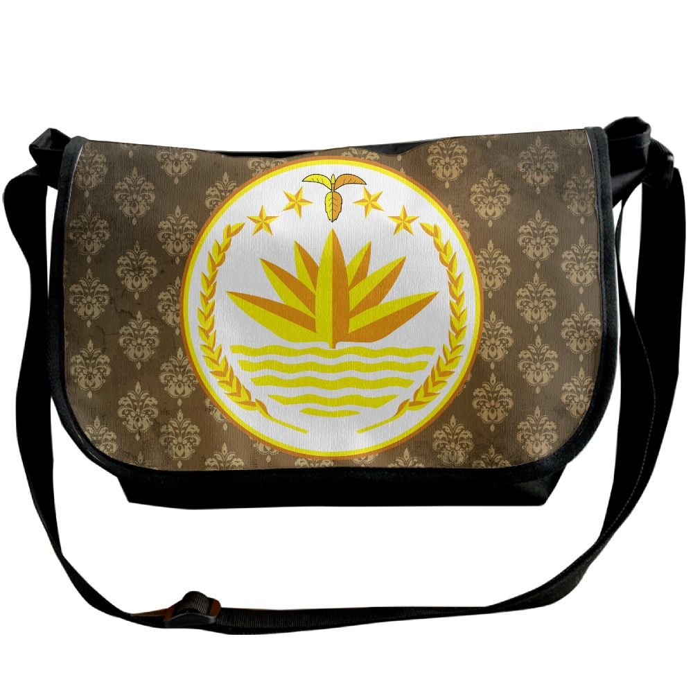 Lov6eoorheeb Unisex Coat Of Arms Of Bangladesh Wide Diagonal Shoulder Bag Adjustable Shoulder Tote Bag Single Shoulder Backpack For Work,School,Daily