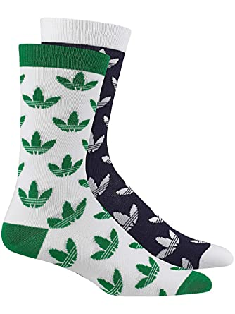 3edd23a0638e81 Socks Men adidas Originals Thin Crew Trefoil 2Pk Socks  Amazon.co.uk   Clothing