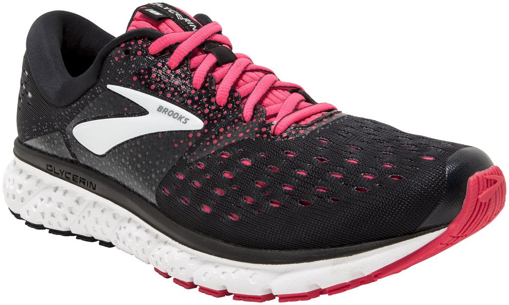 Brooks Womens Glycerin 16 - Black/Pink/Grey - 2A - 11.0 by Brooks
