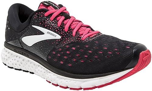 Brooks Glycerin 16, Zapatillas de Running para Mujer, (Black/Pink/Grey