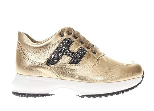 migliori marche calzature beni di consumo Hogan Junior Interactive H Festellata Glitter Bambina Oro 32 ...