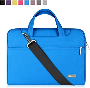 Qishare 11.6 12 inch Laptop Case Laptop Shoulder Bag, Multi-functional Notebook Sleeve Carrying Case With Strap for Notebook Microsoft Surface Pro 6/5/4/3 Macbook Air 11 12(Blue)